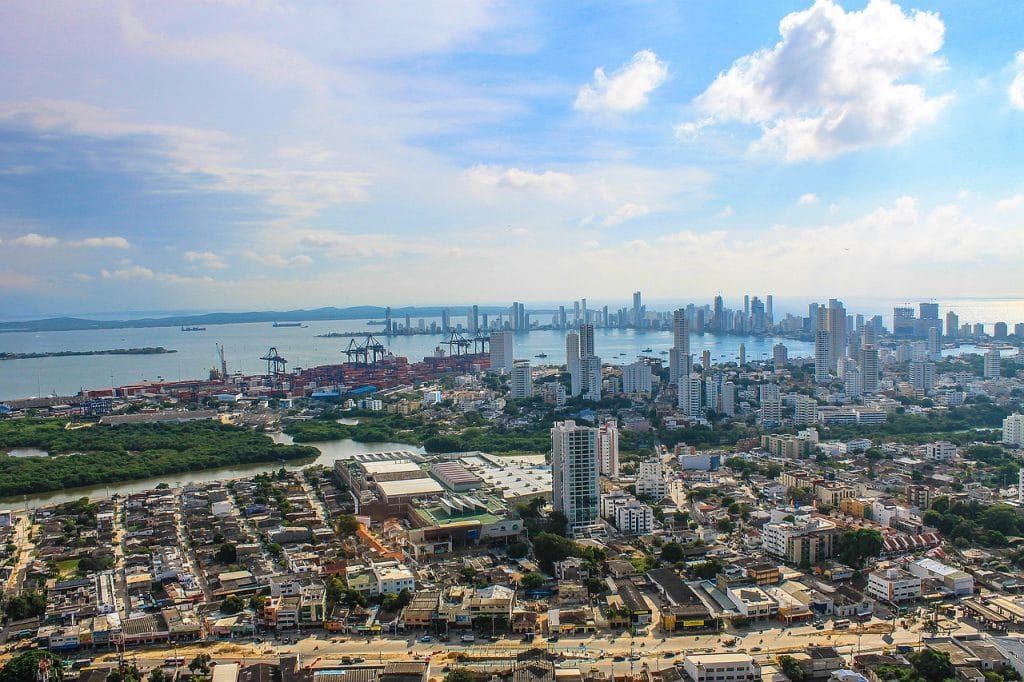 A view of Cartagena's skyline.