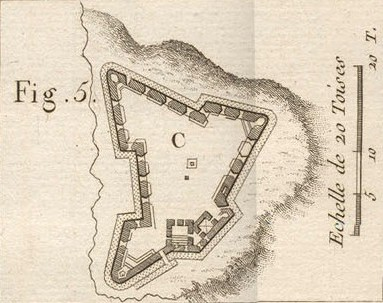 A historical plan for the Castillo San Felipe