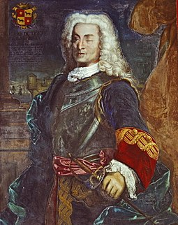 A portrait of Blas de Lezo, the hero of the Battle of Cartagena de Indias.