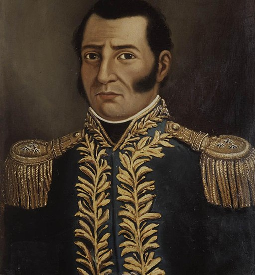 Portrait of Prudencio Padilla in a naval uniform.