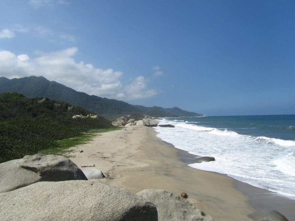 Photo of one of the beachs at Tayrona National Park. Seeing the beaches is one of the best things to do at Tayrona Park.
