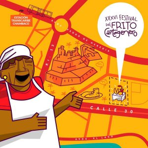 Graphic showing the location of the festival del frito cartagena