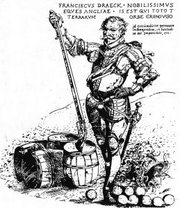 Portrait of Drake in armor and holding a rifle.