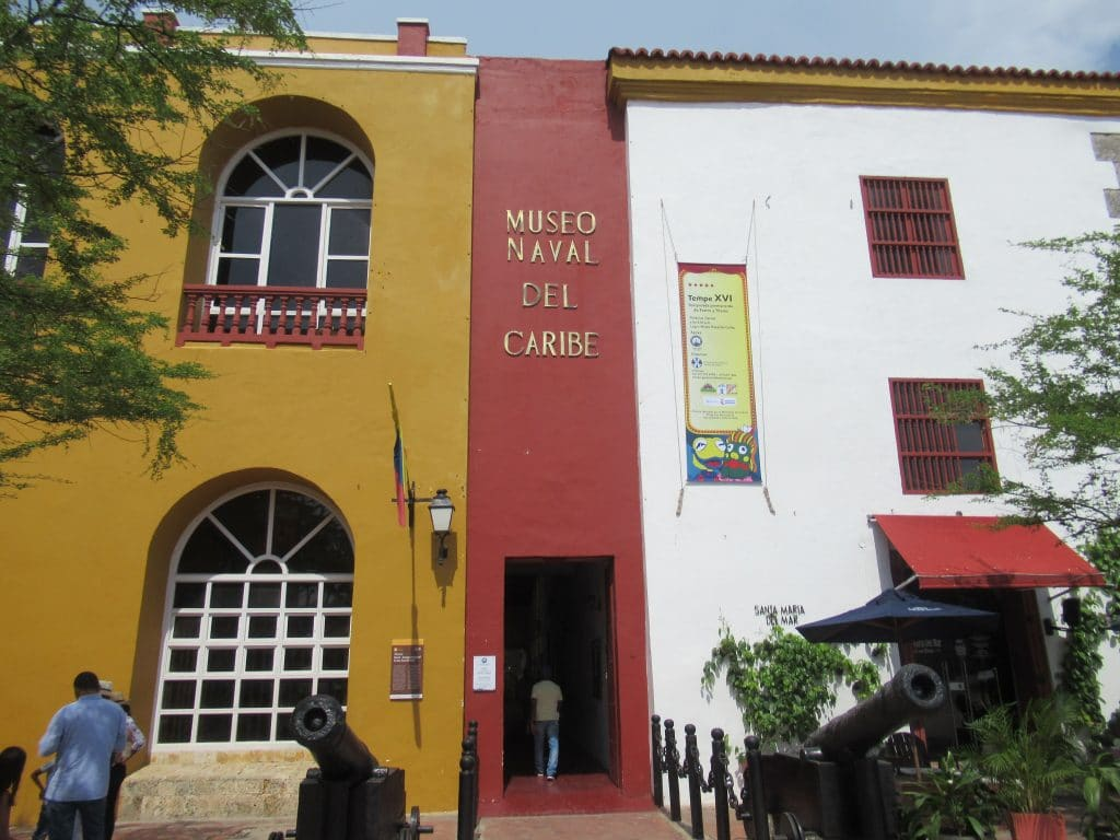 Photo of the entrance to the Museo Naval del Caribe, another great what to do in Cartagena.