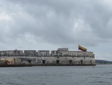 Photo Castillo San Fernando, one of the forts in Cartagena Bay.