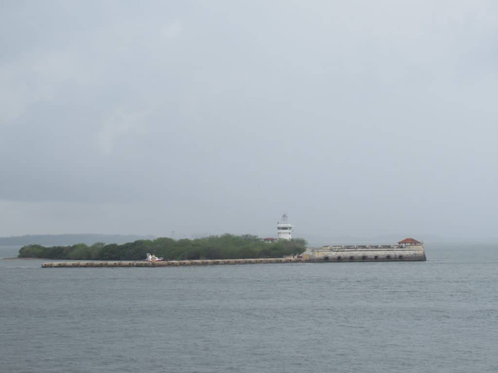 Photo of the San José Fort in Bocachica taken from across the channel