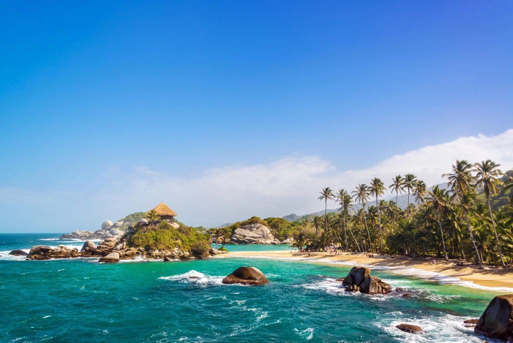 Photo of the beach beside Cabo San Juan in Parque Tayrona