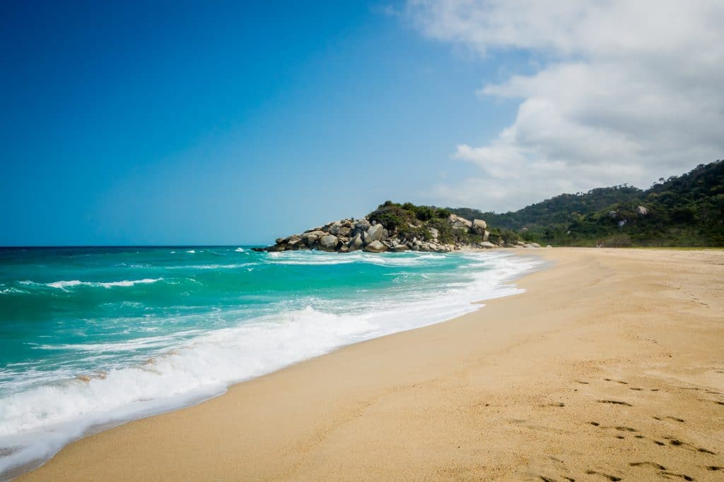 Photo of a beach in Tayrona National Park Colombia