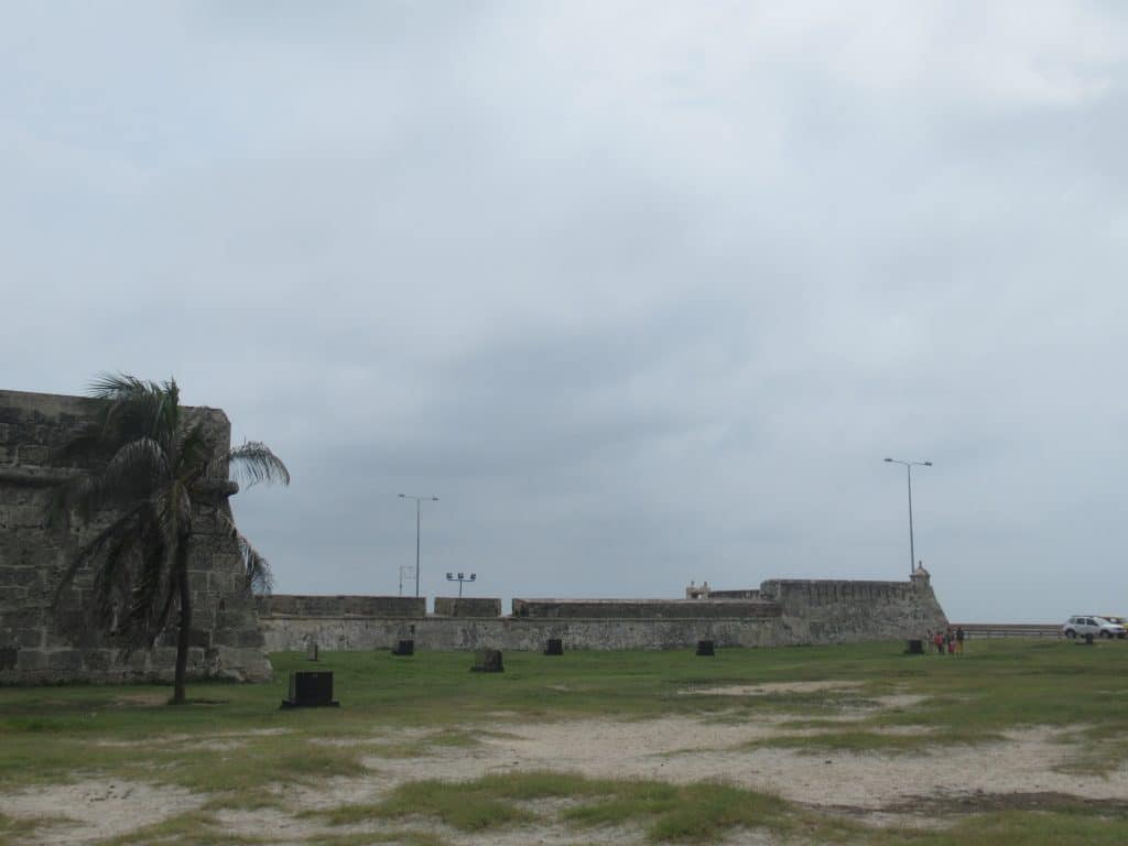 Photo showing the lower section of Cartagena's walls known as Las Tenanzas