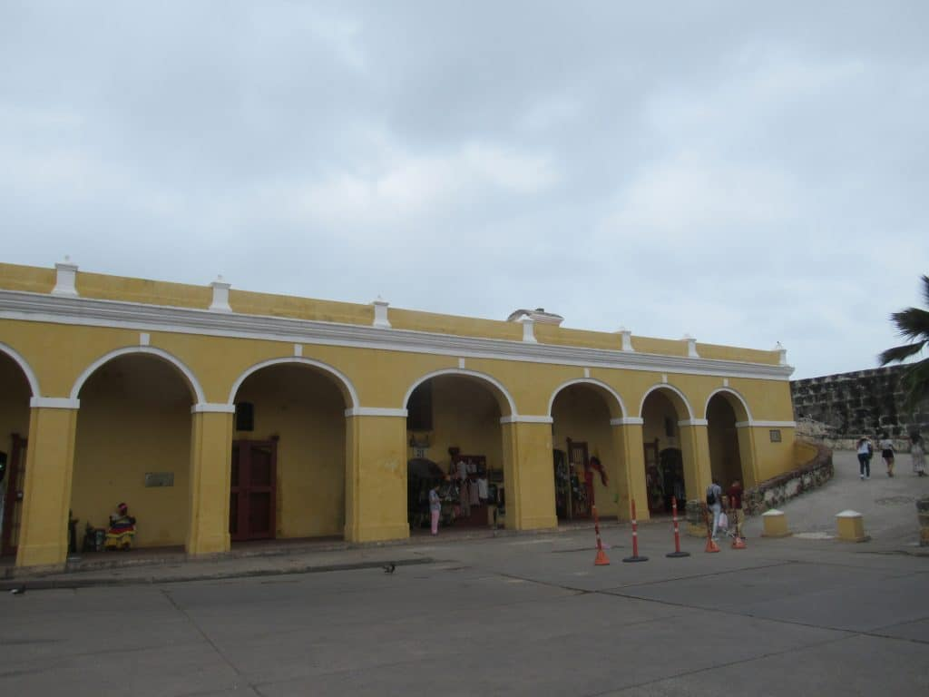 Photo of Las Bovedas, the last section of the wall of Cartagena to be completed