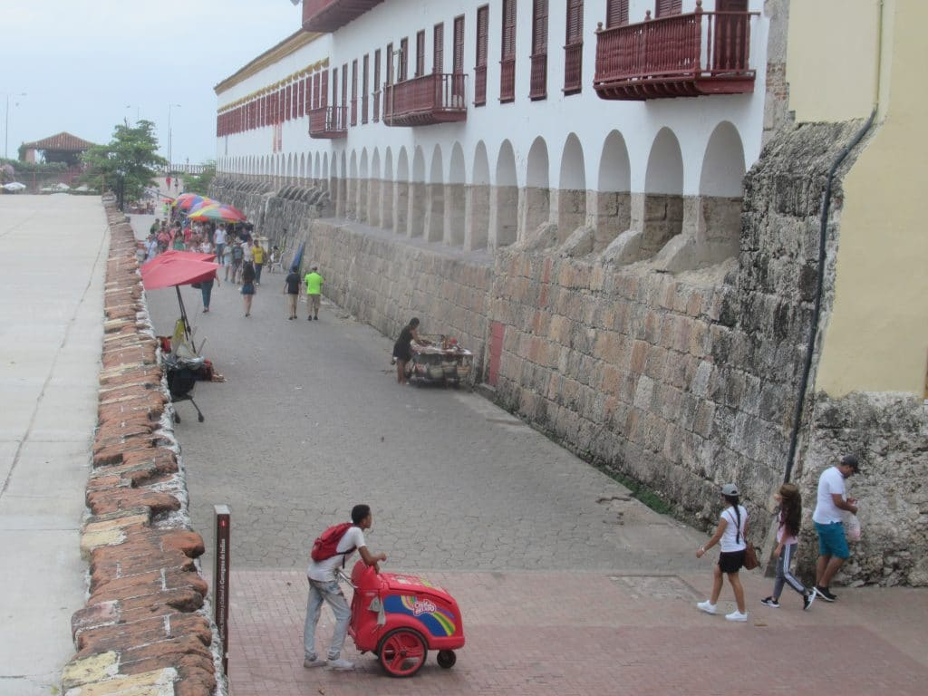 Photo of the section of the Cartagena wall known as Callejon de la Ronda