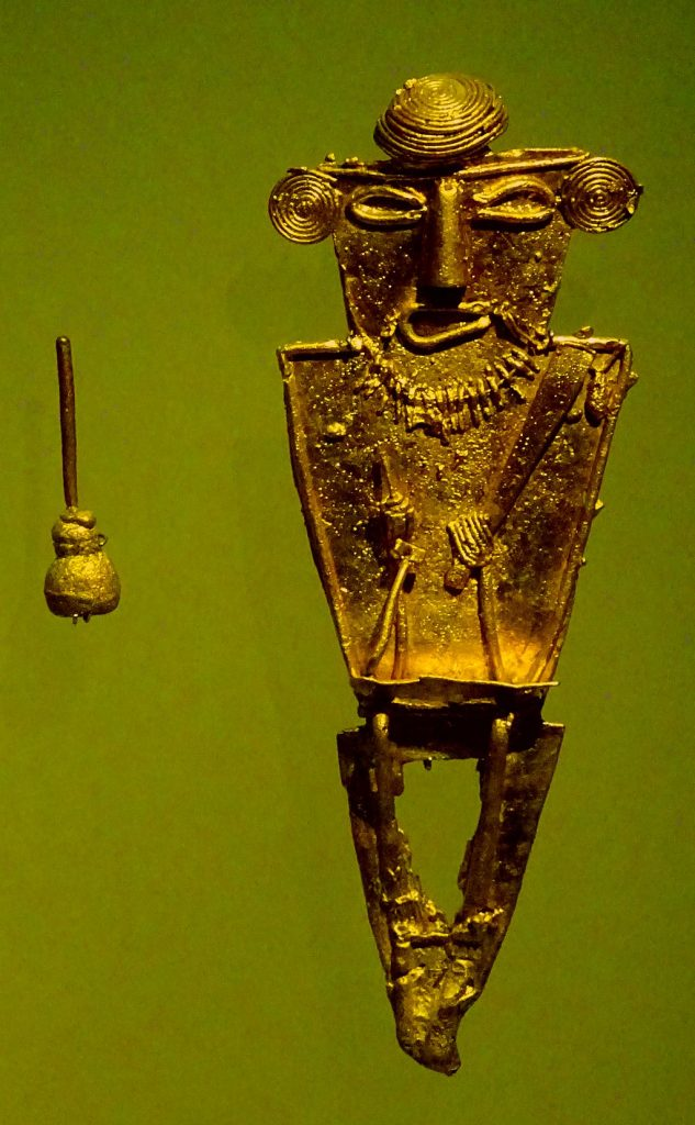 Photo of a gold figurine at the Gold Museum Bogotá