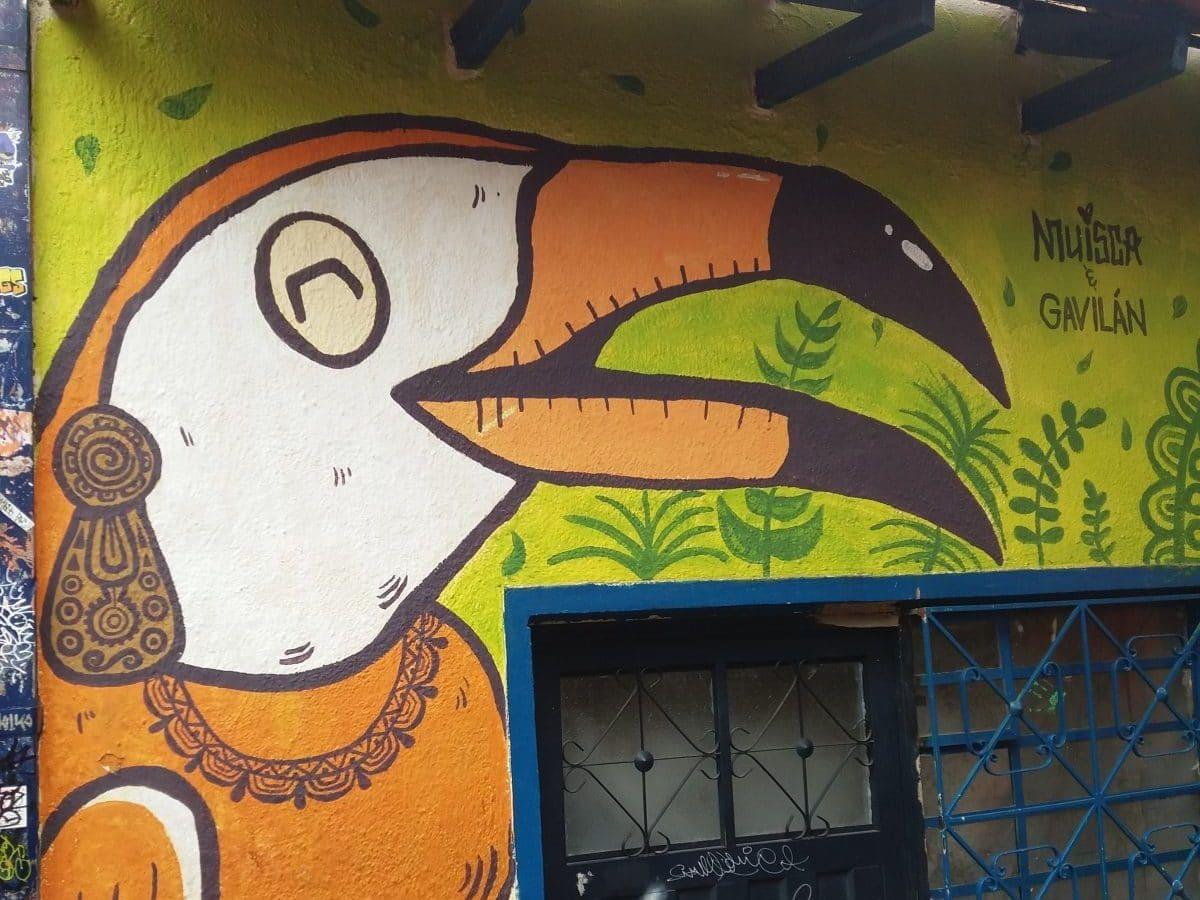 Seeing the Street Art on Bogotá's Callejón Embudo