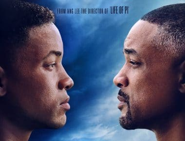 Photo of an older and younger Will Smith facing each other.