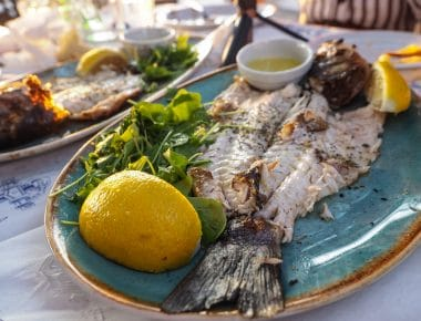Photo of a plate of fish.