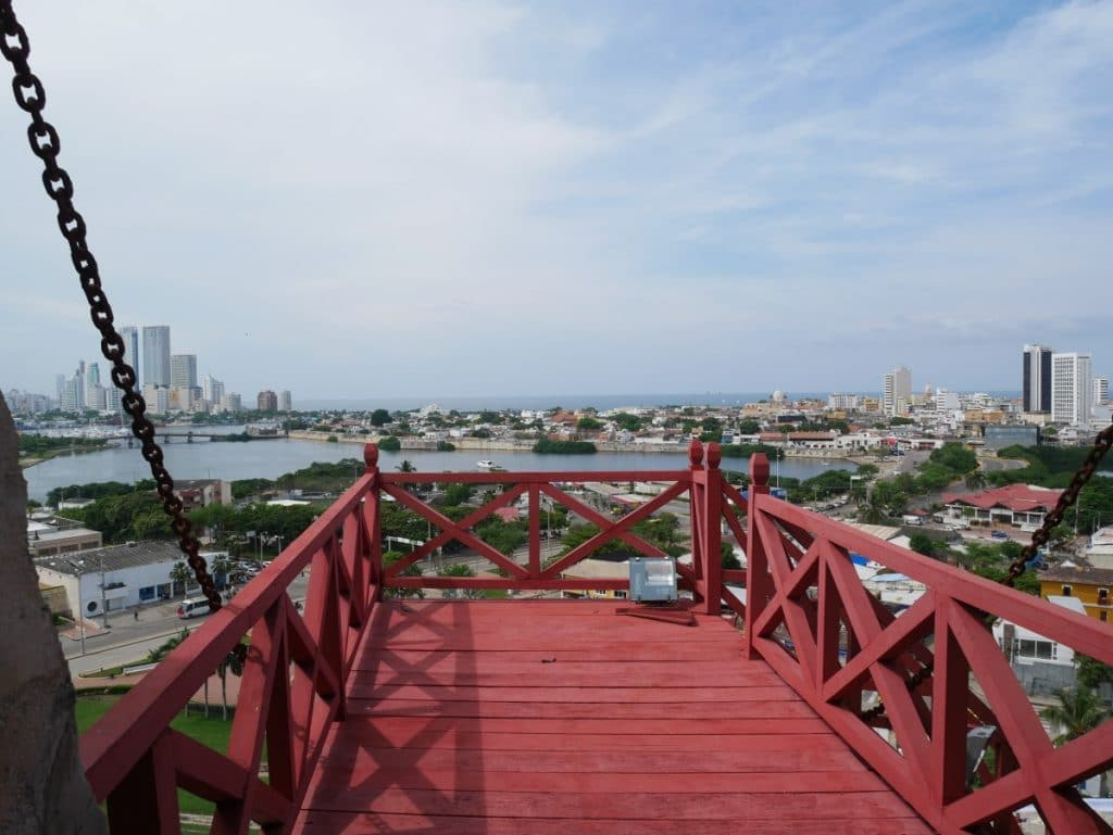 Photo of a view of Cartagena from the Castillo San Felipe