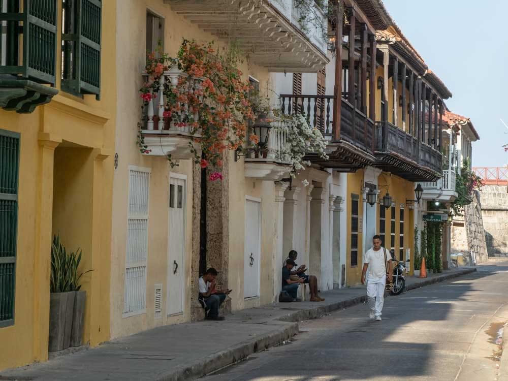 Photo of someone strolling in Cartagena