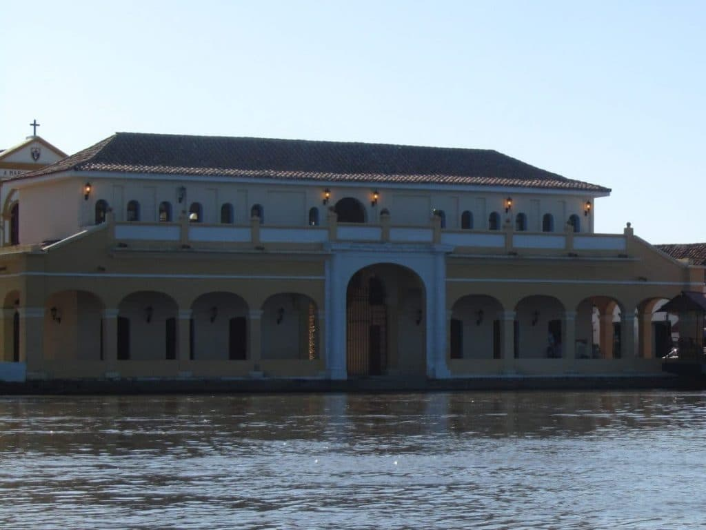 The old colonial market in Mompox seen from the river.