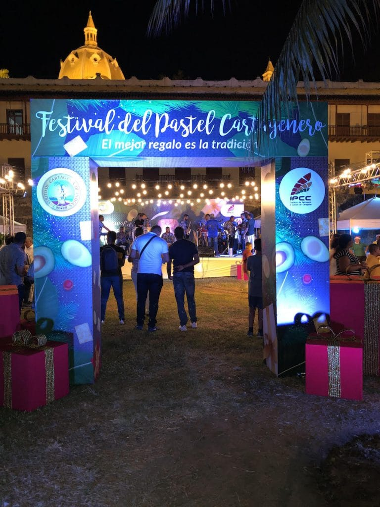 Photo of the entrance to the festival del pastel