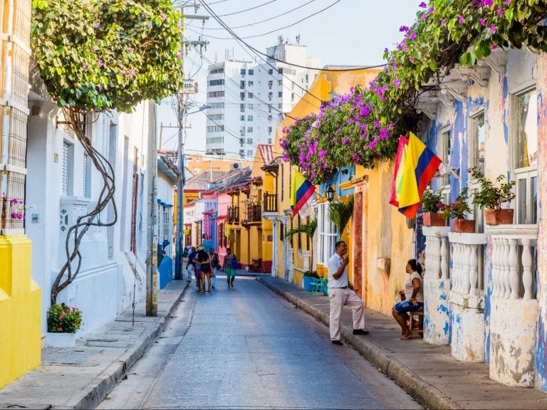 Photo fo a street in Cartagena, Colombia