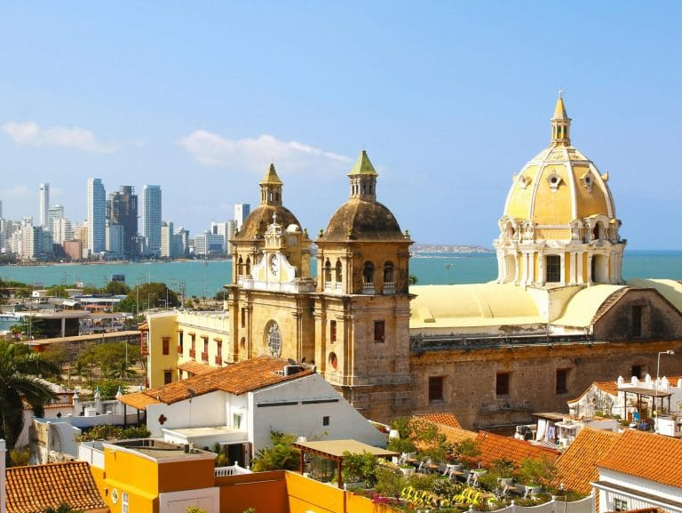 View of the San Pedro Church in Cartagena, Colombia