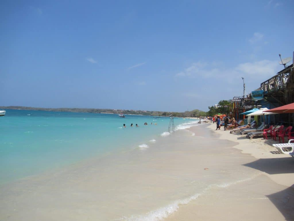 Photo of the beach front at Playa Blanca