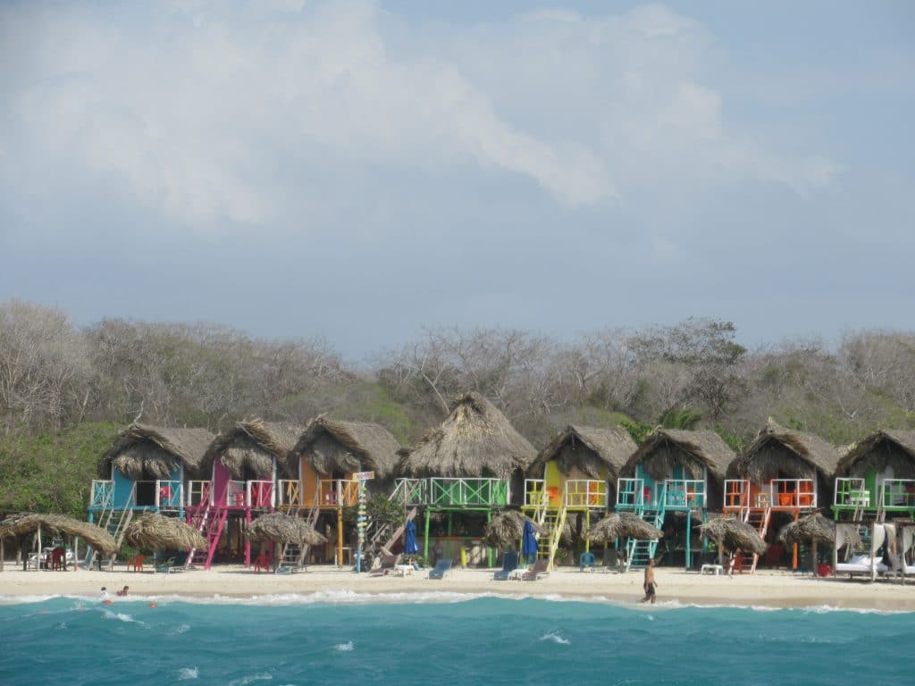 Photo of cabins on the beach at Playa Blanca
