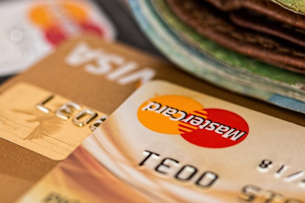Photo of two credit cards up close