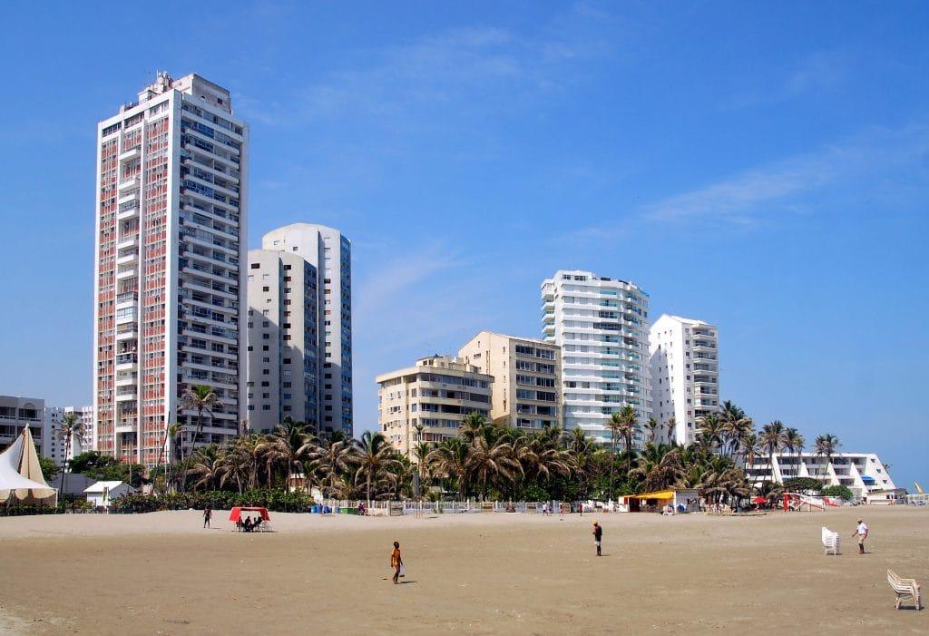 Foto de una playa en Cartagena.