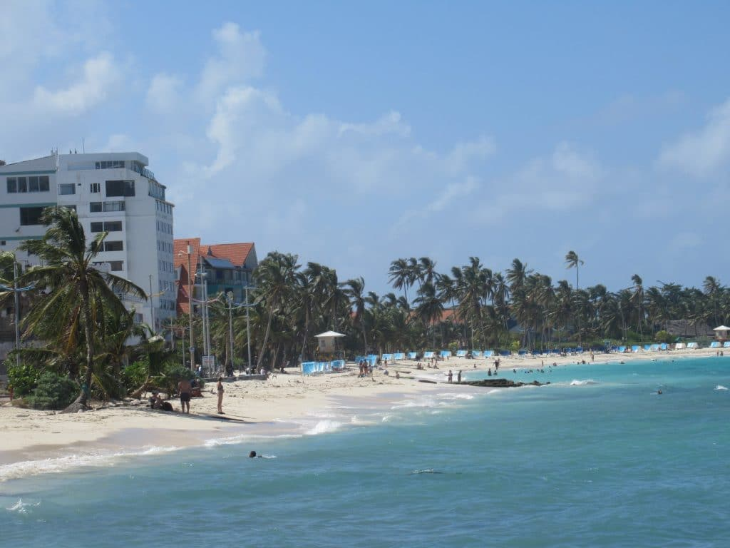 Photo of Spratt Bight, the best beach in San Andres, Colombia.