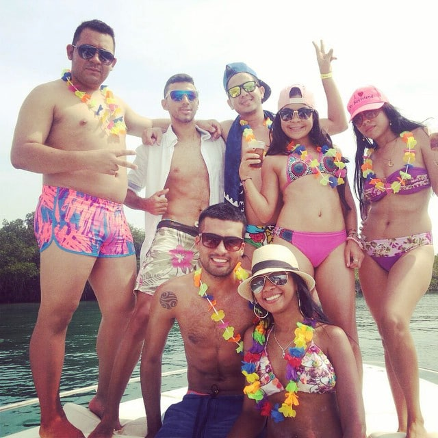 Photo of a group on the boat in Cholón Colombia.