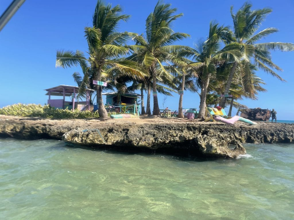 Photo of the island of Rocky Cay in San Andres, Colombia.